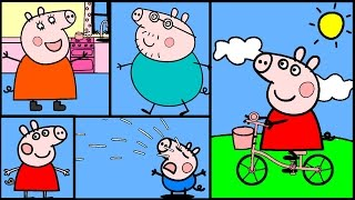 getlinkyoutube.com-Peppa Pig Coloring Pages Part 2 - Peppa Pig Coloring Book