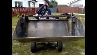 getlinkyoutube.com-функциональный трактор-погрузчик  (ковш челюстной)