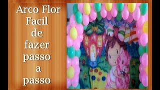 getlinkyoutube.com-Diy balloon arch - Faça você mesma esse lindo arco de bolas . Arco flor.