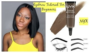 getlinkyoutube.com-Eyebrow Tutorial for Beginners | NYX Eyebrow Gel Espresso