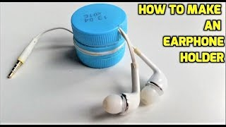 getlinkyoutube.com-How to make an earphone holder from plastic bottles