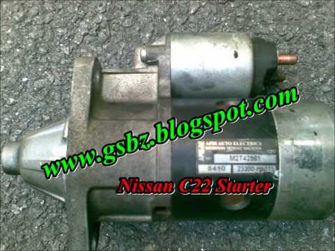 Nissan C22 starter Factory Defect.wmv