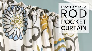 getlinkyoutube.com-Easy DIY Curtains - How to Make a Rod Pocket Curtain