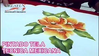 getlinkyoutube.com-PINTANDO TELA TECNICA MEXICANA