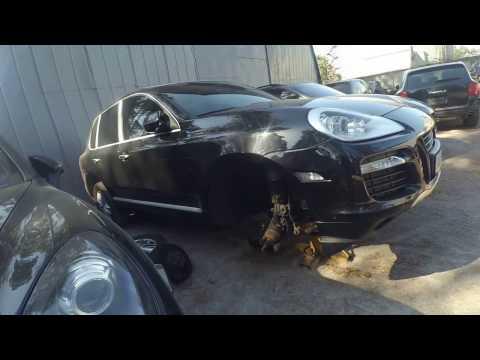 Расположение сальника коленвала у Porsche Cayenne