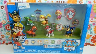 getlinkyoutube.com-Walmart Exclusive Paw Patrol Action Pack Set of Six Characters Toy Review