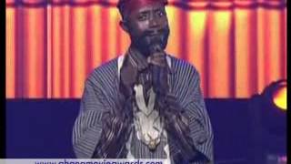 GHANA MOVIE AWARDS 2013 BABA SPIRIT DROPS COMEDY ON STAGE