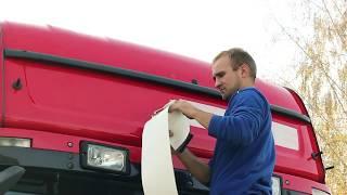 getlinkyoutube.com-Tuning wizualny Scania R420 - vinyl wrapping / oklejanie folią
