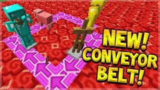 getlinkyoutube.com-NEW WORKING CONVEYOR BELT With New Terracotta Blocks In Minecraft