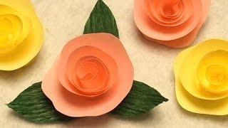 getlinkyoutube.com-Rose basteln aus Papier