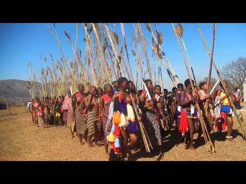 Reed Dance in Swaziland 2013 part 2
