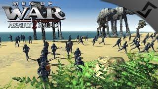getlinkyoutube.com-Imperial AT-AT Beach Invasion - Men of War: Assault Squad 2 - Star Wars: Galaxy at War Mod