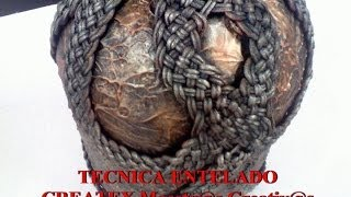 MANUALIDADES TECNICA ENTELADO CESTERIA