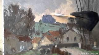 getlinkyoutube.com-José SALVAGGIO plein air painting 11 Lavincourt