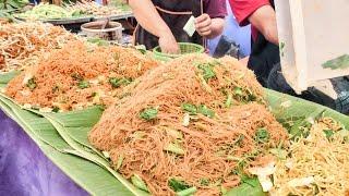 getlinkyoutube.com-Bangkok Street Food. Cooking Five Types of Noodles. Thailand