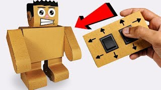 How to make Walking ROBOT from cardboard Easy Science Project DIY
