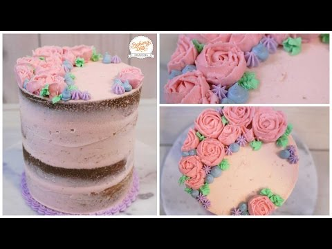 APRENDE A HACER FLORES CON BETÚN (NAKED CAKE) - BAKING DAY
