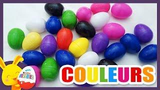 getlinkyoutube.com-Compétition des couleurs - Oeufs surprises pour apprendre les couleurs - Titounis