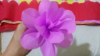 getlinkyoutube.com-Flor de papel crepom - Paper Crepe Flower