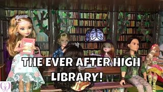 getlinkyoutube.com-HOW TO MAKE THE EVER AFTER HIGH LIBRARY | A DOLL ROOM TUTORIAL BY DOLLS, TOYS, AND GAMES GAL