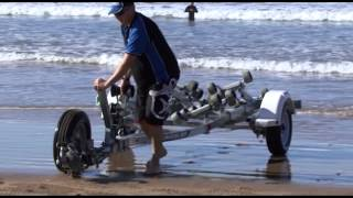 getlinkyoutube.com-How to beach launch a boat in the surf.
