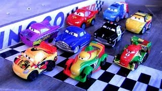 getlinkyoutube.com-Rip Clutchgoneski Micro Drifters Cars Gold Francesco Bernoulli, Miguel Camino, Ramone Sheriff Disney