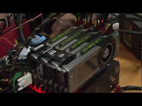 Nvidia GeForce GTX Titan quad SLI demo - Crysis 3 and 3DMark 11