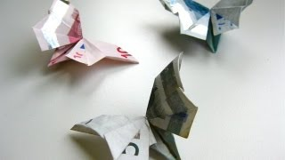 getlinkyoutube.com-DIY Origami Geldschein Schmetterling