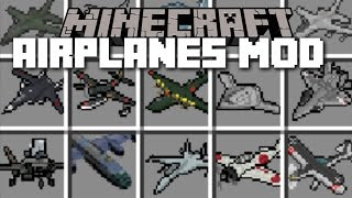 getlinkyoutube.com-Minecraft PLANE MOD / FLY YOUR OWN AIRLINE CARRIERS AND BLOW THEM UP!! Minecraft