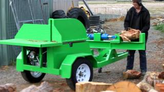 getlinkyoutube.com-Beaver Equipment saw bench with log splitter