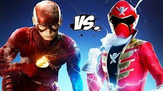 getlinkyoutube.com-The Flash vs Red Super MegaForce (Power Ranger)