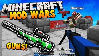 getlinkyoutube.com-GUN MOD 2V2! | Minecraft MOD WARS! w/ LandonMC, Dawn & ItzMaxk (Flans Mod)