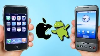 getlinkyoutube.com-First iPhone vs First Android Phone! (iOS 1.0 vs Android 1.0)