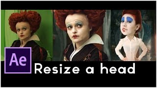 getlinkyoutube.com-After Effects Tutorial: Hollywood Movie VFX, Resizing the head, special effect alice in wonderland