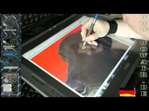 "Airbrush by WOW "" how to ... cut a stencil "" Dog from a Photo Englisch HD 1080.mp4"