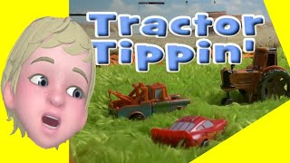 getlinkyoutube.com-Lightning and Mater Tractor Tipping