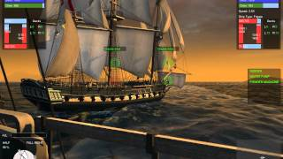 getlinkyoutube.com-Naval Action: Frigate duel