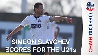 Първият гол на Симеон Славчев с екипа на Болтън
