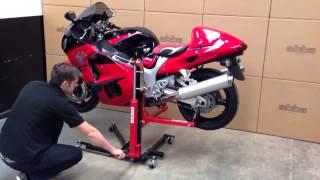 getlinkyoutube.com-Abba Sky Lift Product Demonstration Video - SkyLift motorcycle lift / stand