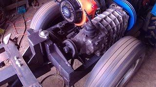 getlinkyoutube.com-Мини трактор переломка 4х4 педаль сцепления и его работа
