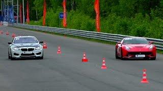 getlinkyoutube.com-BMW M6 vs Ferrari F12 Berlinetta vs BMW M4 vs Audi S6