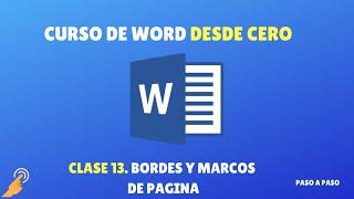 getlinkyoutube.com-Como Hacer Bordes y Marcos de Pagina Personalizados en Word - NOVATOS 2016
