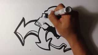 getlinkyoutube.com-Drawing Skull Graffiti - Skull Drawings