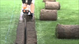 getlinkyoutube.com-Mini Trencher Handheld Fast Trenching