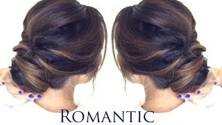 getlinkyoutube.com-5-MINUTE Romantic Bun Hairstyle | EASY Updo Hairstyles