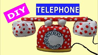 getlinkyoutube.com-DIY Crafts Ideas: How to Make Cute Toy Telephone out of Plastic Bottles and Air Freshener