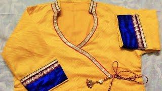 getlinkyoutube.com-Designer neckline half collar for party wear( DIY)
