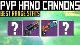 getlinkyoutube.com-Destiny | BEST PVP HAND CANNONS! - Highest Range Hand Cannons for PvP (Rise of Iron)