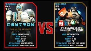 Real Steel WRB Final UW II Psytron VS Metro (Champion) NEW Robot updating