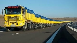 getlinkyoutube.com-The World's Longest Truck - Road Train in Australia